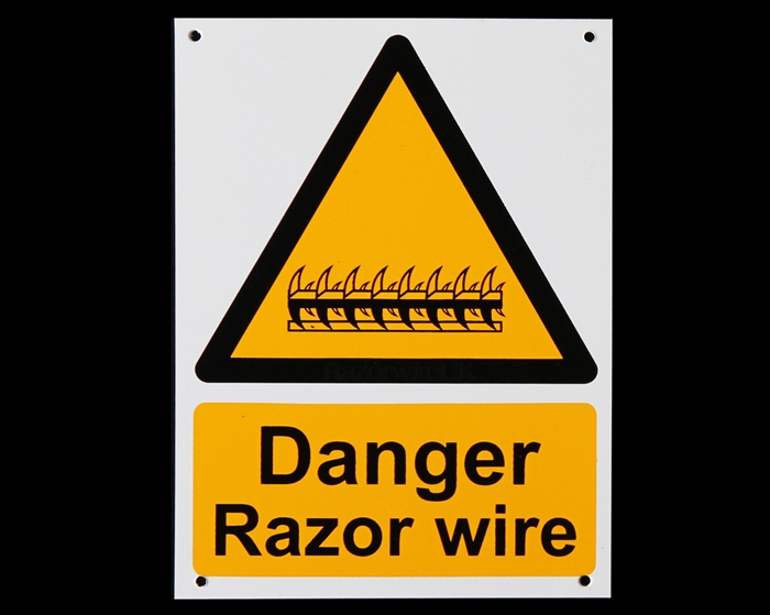A5 Size Plastic Danger Sign
