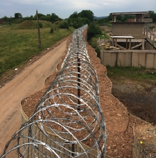 Clipped Concertina Razor Wire