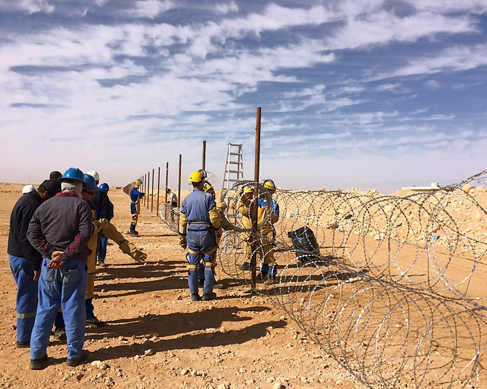 RazorwireUK Installation around Refinery in Sahara Desert