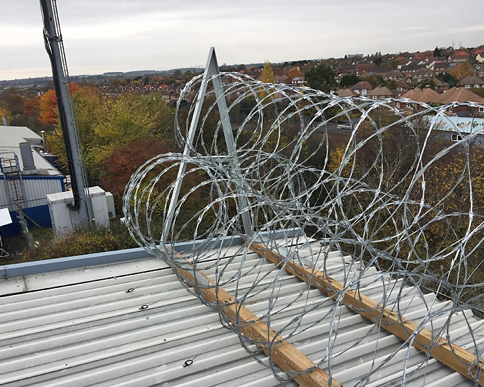 RazorwireUK Pyramid Installation on factory roof